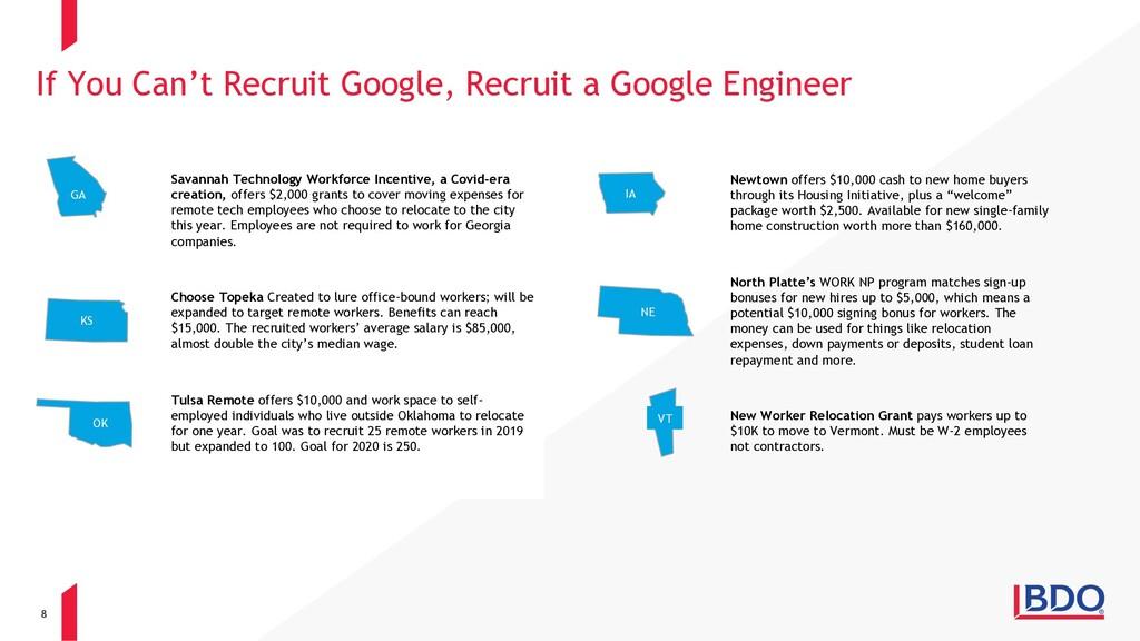 8 If You Can't Recruit Google, Recruit a Google...