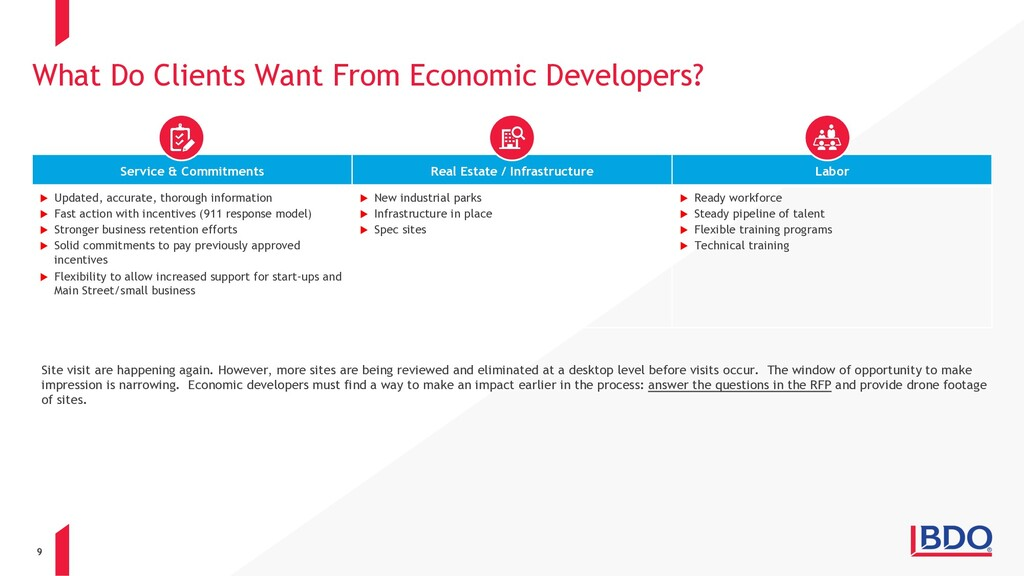 9 What Do Clients Want From Economic Developers...