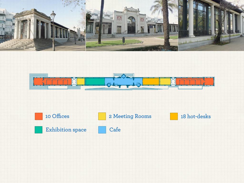 10 Offices 18 hot-desks 2 Meeting Rooms Exhibitio...