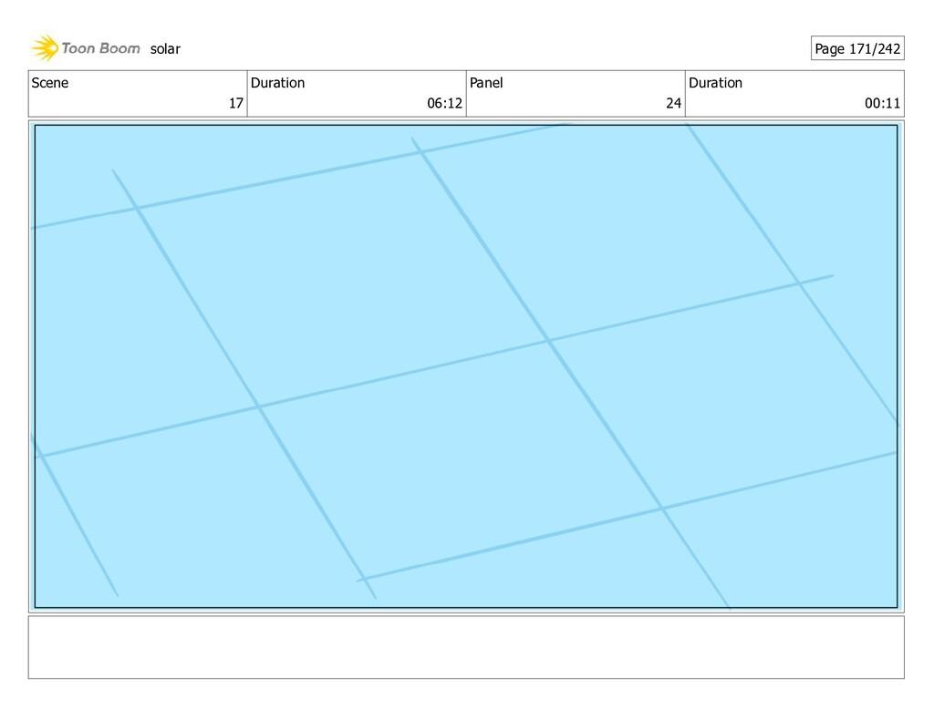 Scene 17 Duration 06:12 Panel 24 Duration 00:11...