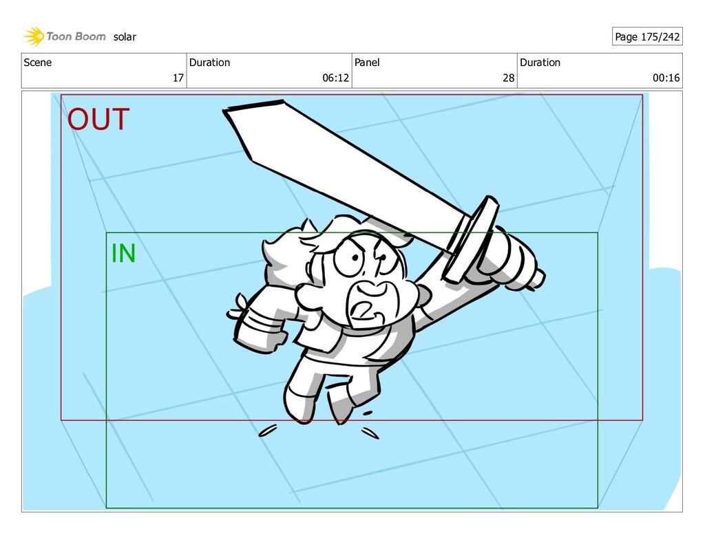 Scene 17 Duration 06:12 Panel 28 Duration 00:16...