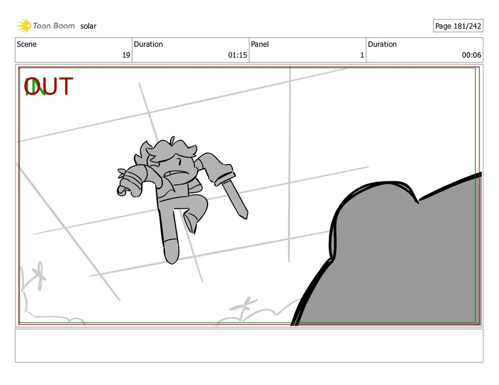 Scene 19 Duration 01:15 Panel 1 Duration 00:06 ...
