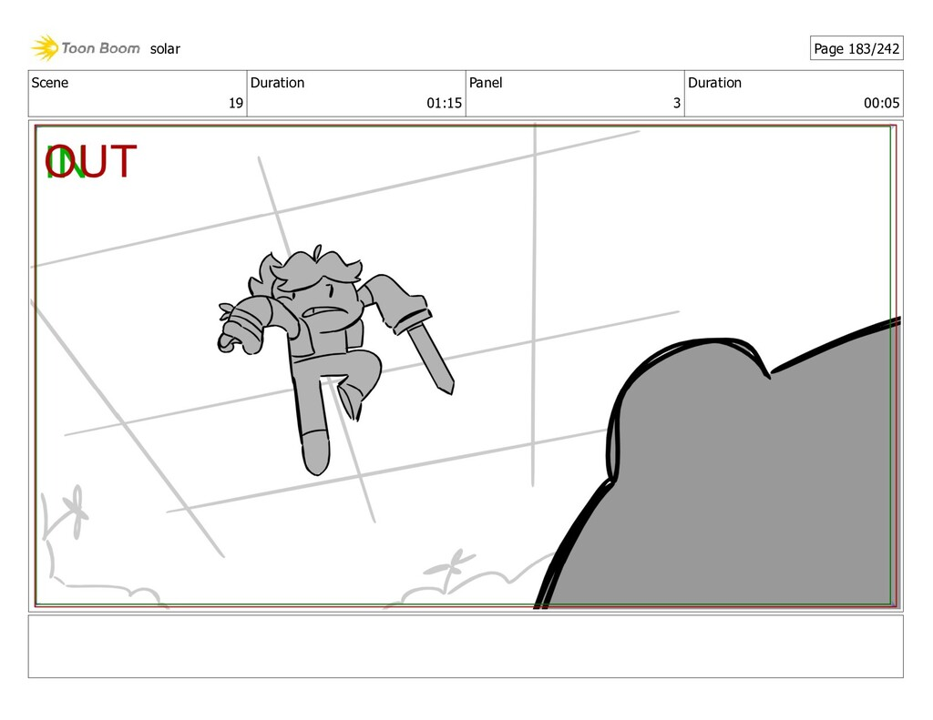 Scene 19 Duration 01:15 Panel 3 Duration 00:05 ...