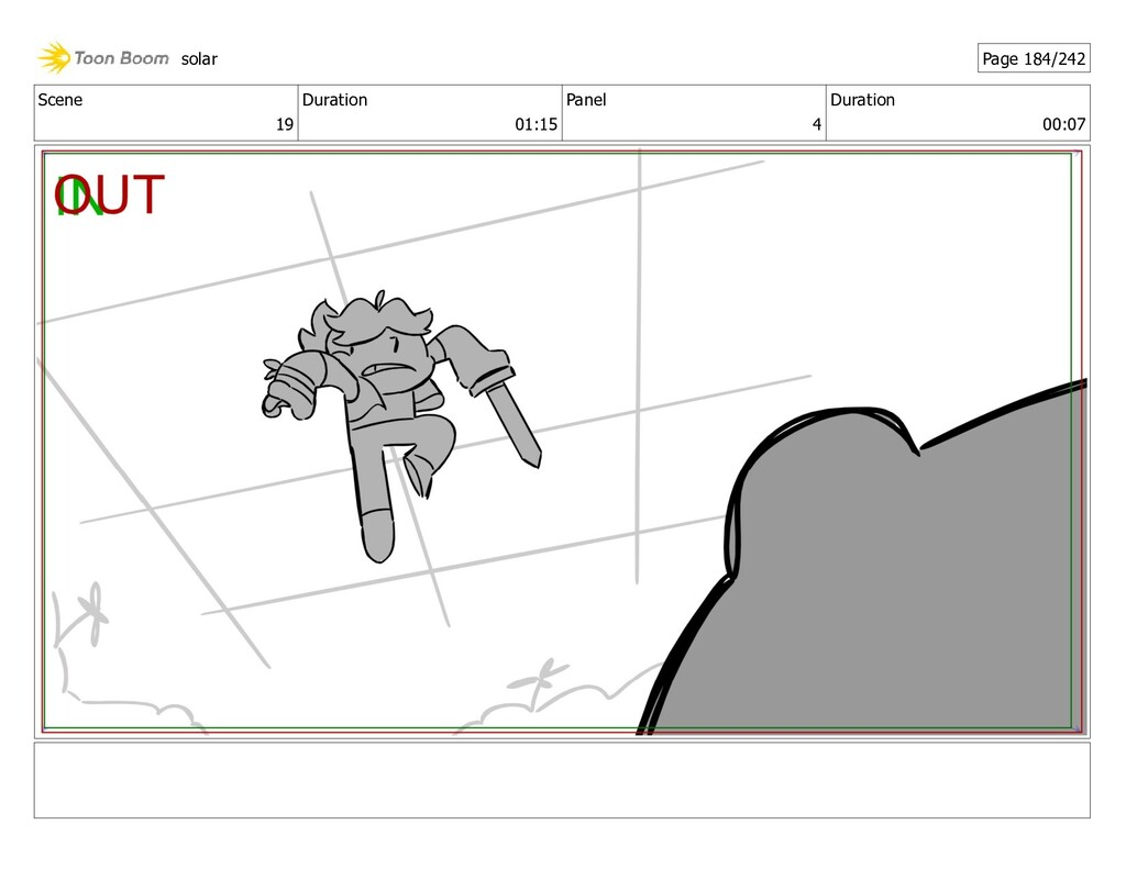Scene 19 Duration 01:15 Panel 4 Duration 00:07 ...