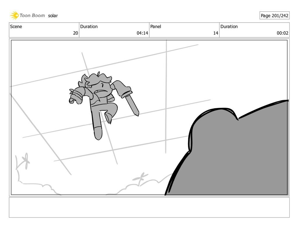 Scene 20 Duration 04:14 Panel 14 Duration 00:02...