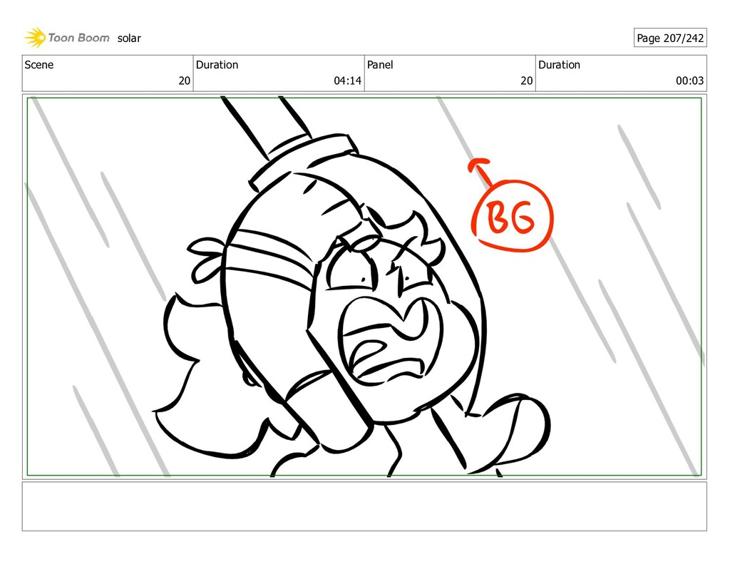 Scene 20 Duration 04:14 Panel 20 Duration 00:03...