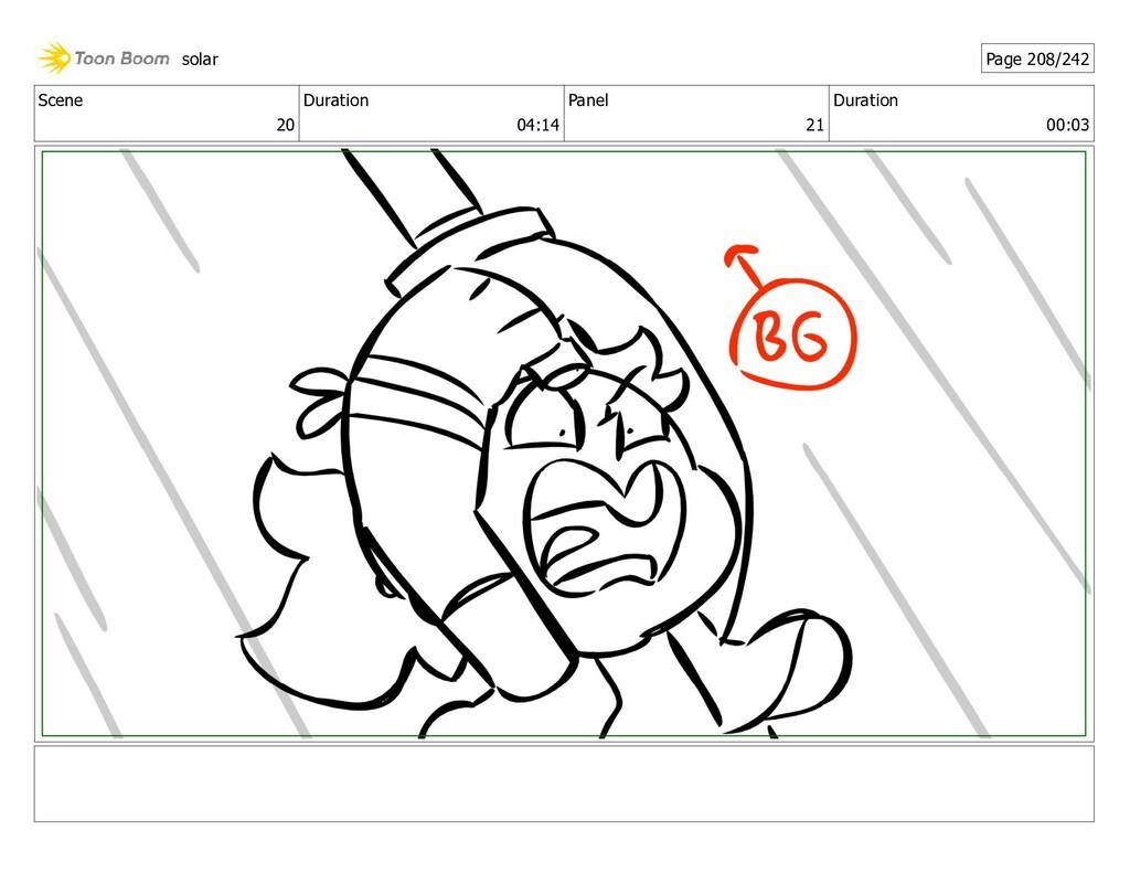 Scene 20 Duration 04:14 Panel 21 Duration 00:03...