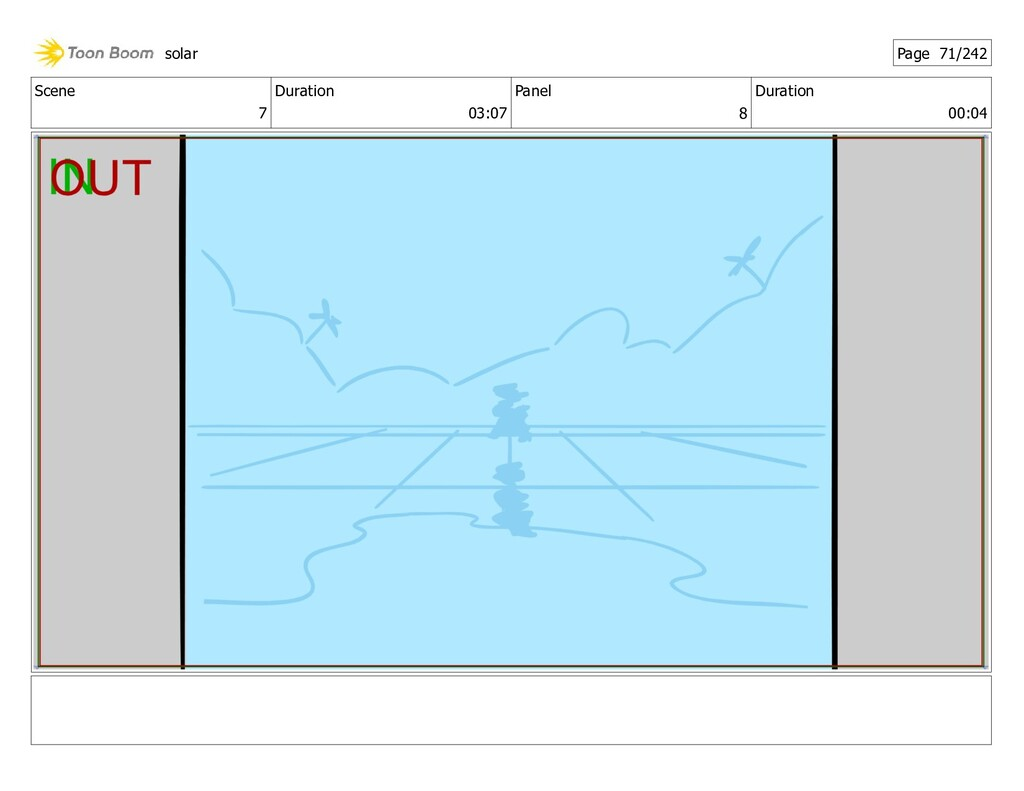 Scene 7 Duration 03:07 Panel 8 Duration 00:04 s...