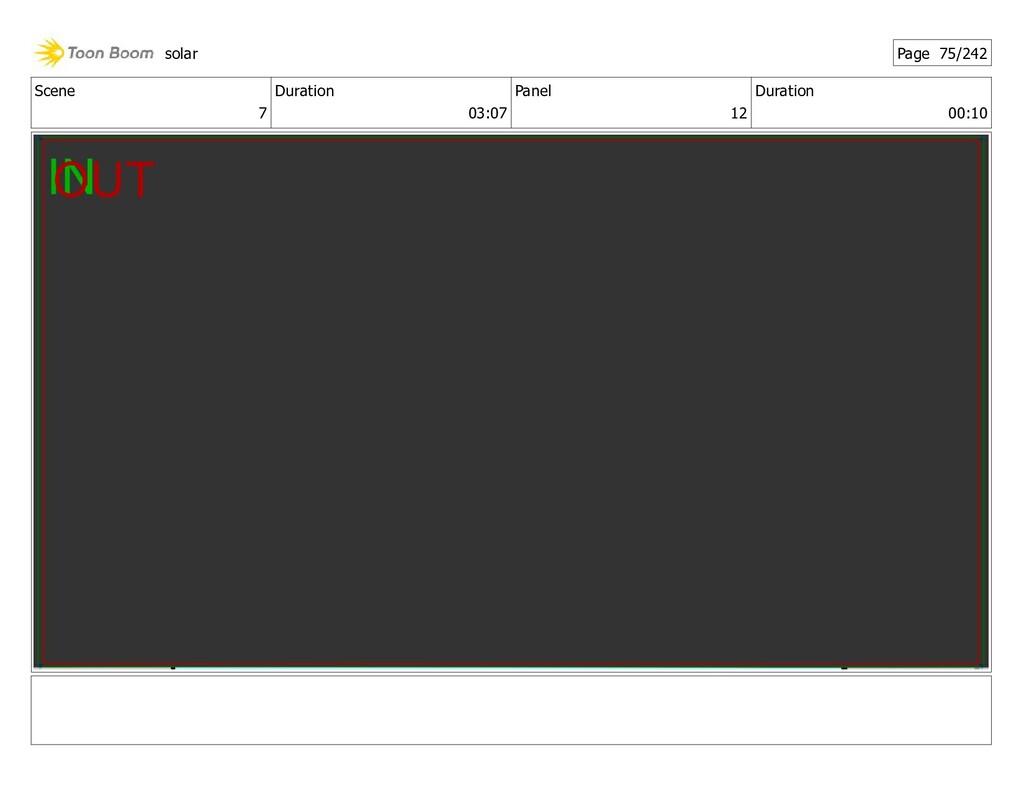 Scene 7 Duration 03:07 Panel 12 Duration 00:10 ...