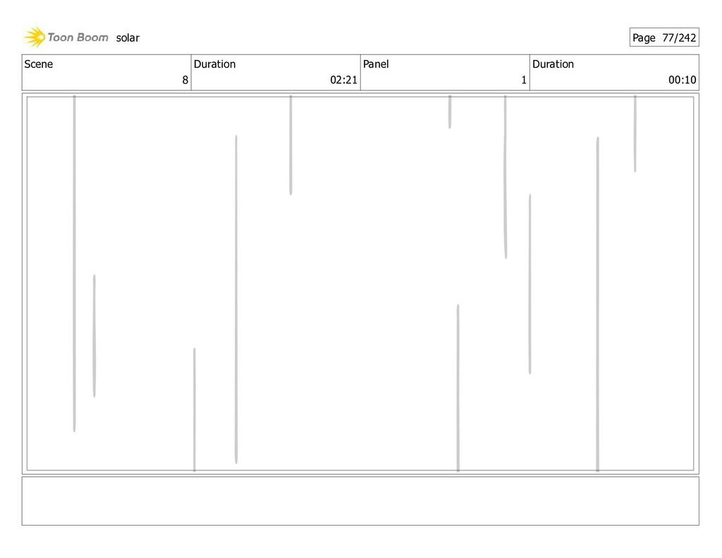 Scene 8 Duration 02:21 Panel 1 Duration 00:10 s...