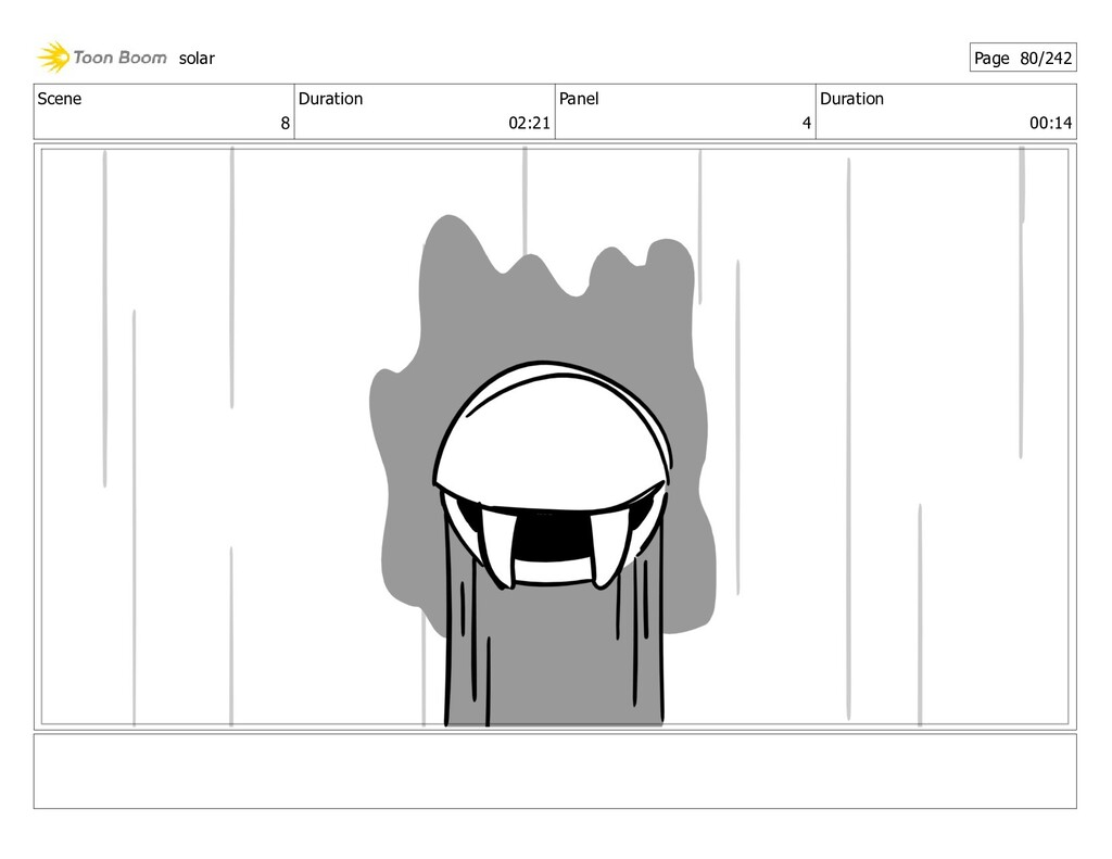 Scene 8 Duration 02:21 Panel 4 Duration 00:14 s...