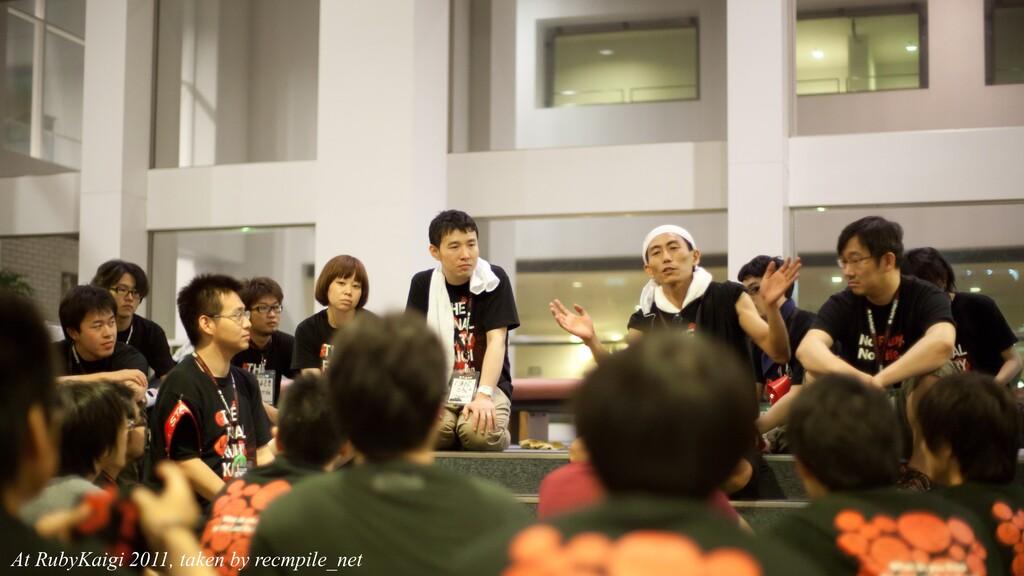 At RubyKaigi 2011, taken by recmpile_net