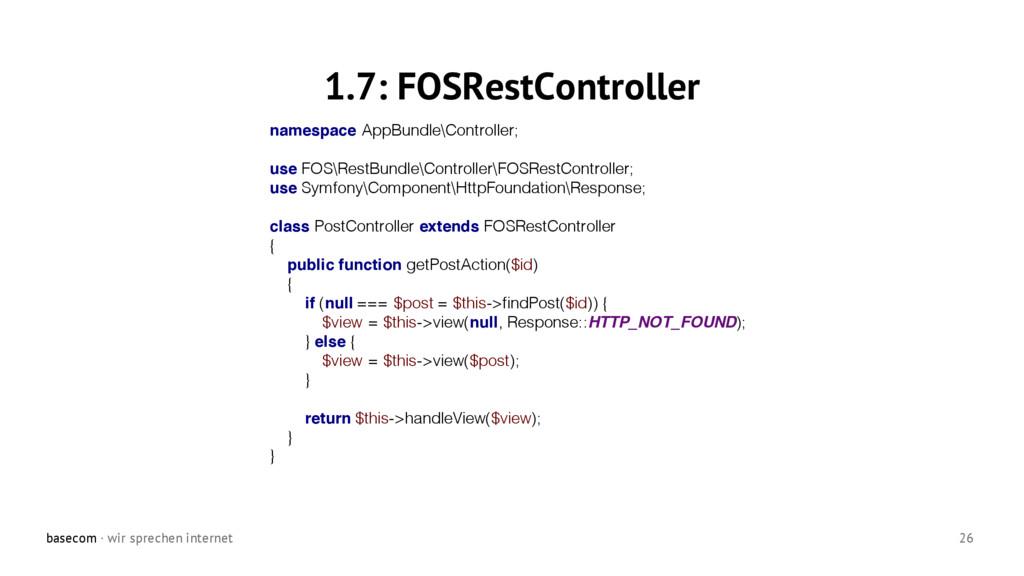 basecom · wir sprechen internet 26 1.7: FOSRest...