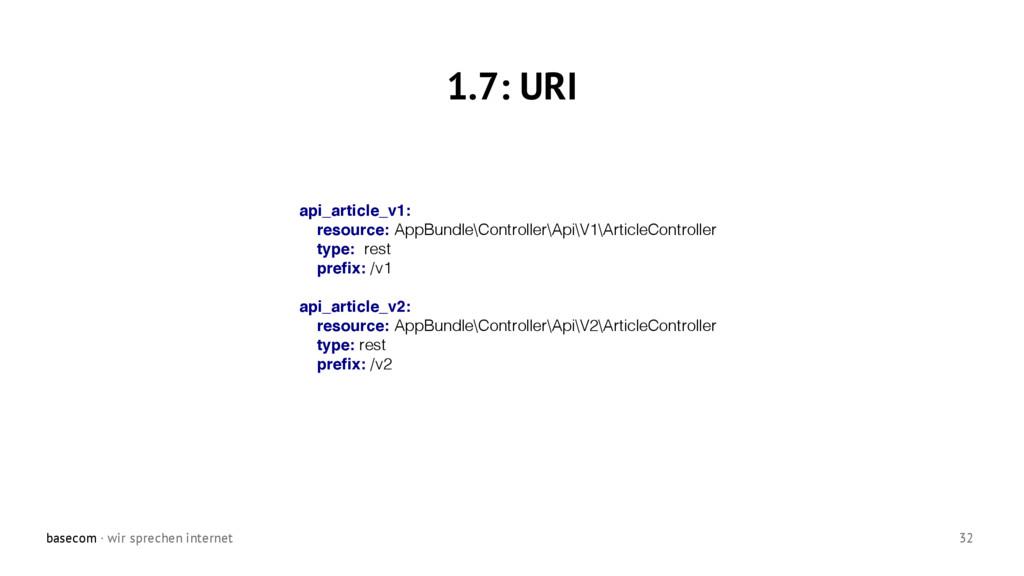 basecom · wir sprechen internet 32 1.7: URI api...