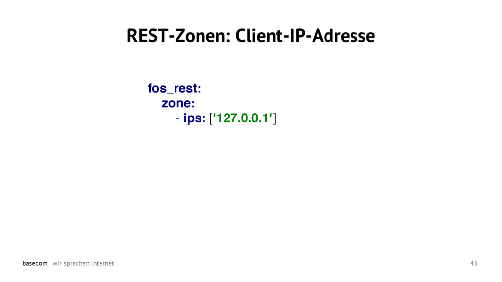 basecom · wir sprechen internet 45 REST-Zonen: ...