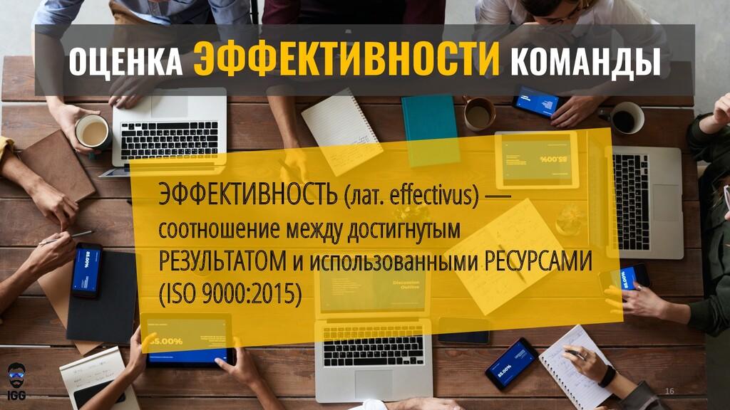 ОЦЕНКА ЭФФЕКТИВНОСТИ КОМАНДЫ ЭФФЕКТИВНОСТЬ (лат...