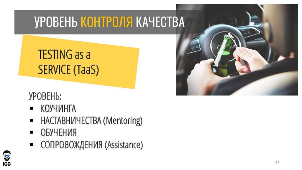 УРОВЕНЬ КОНТРОЛЯ КАЧЕСТВА TESTING as a SERVICE ...