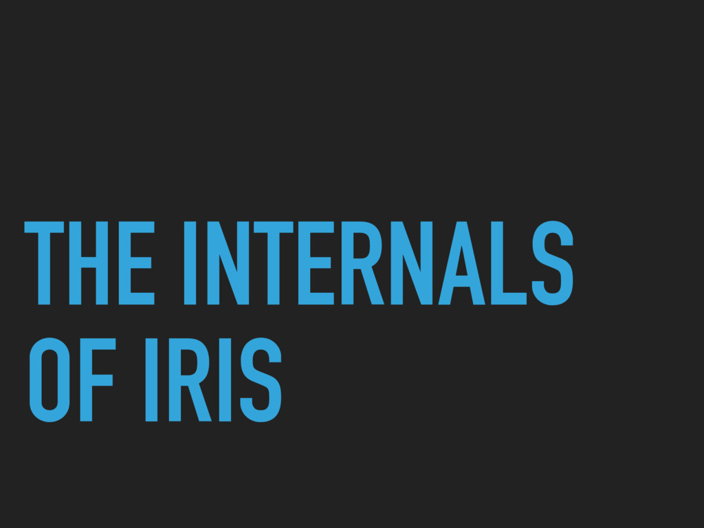 THE INTERNALS OF IRIS