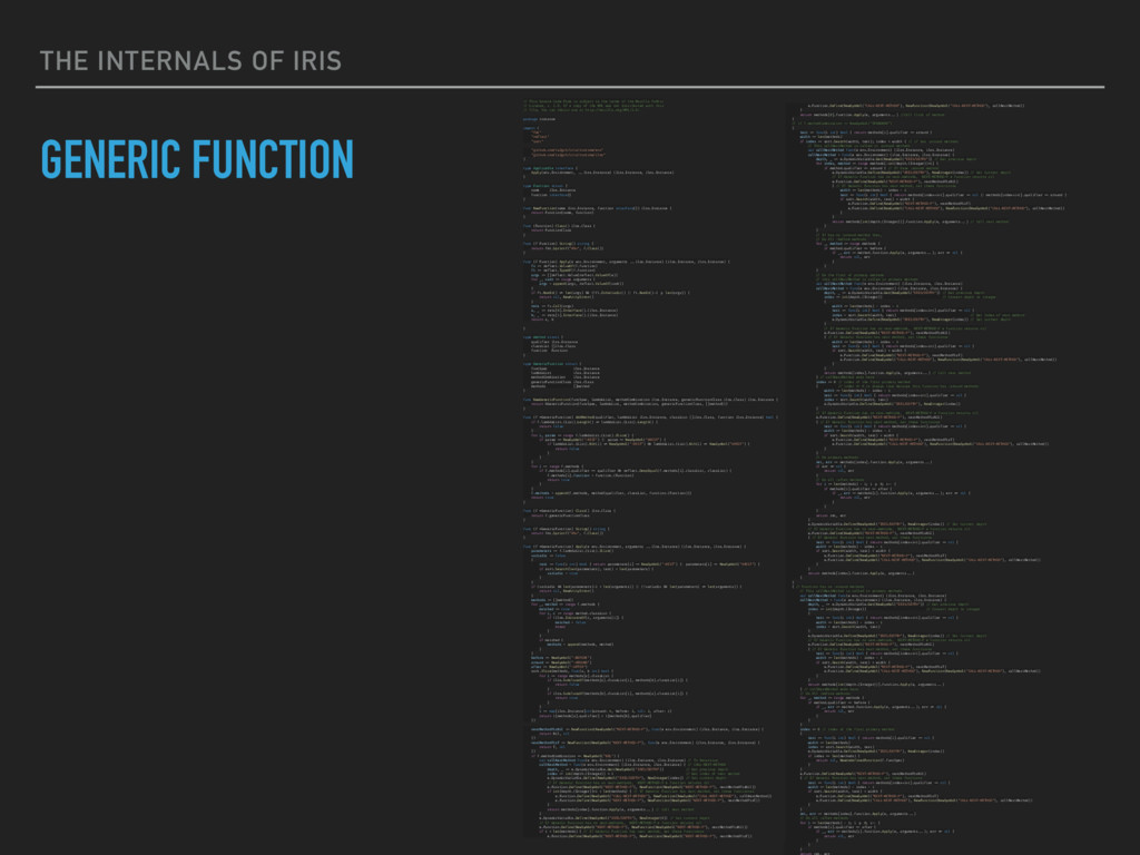 THE INTERNALS OF IRIS GENERIC FUNCTION e.Functi...