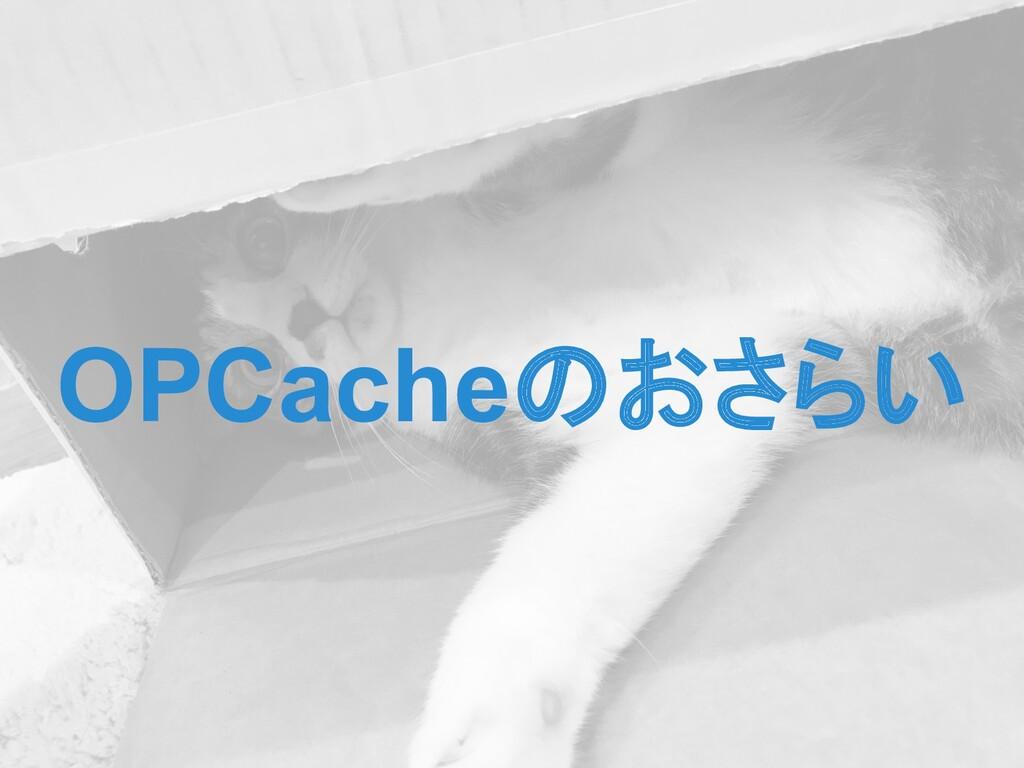 OPCacheのおさらい