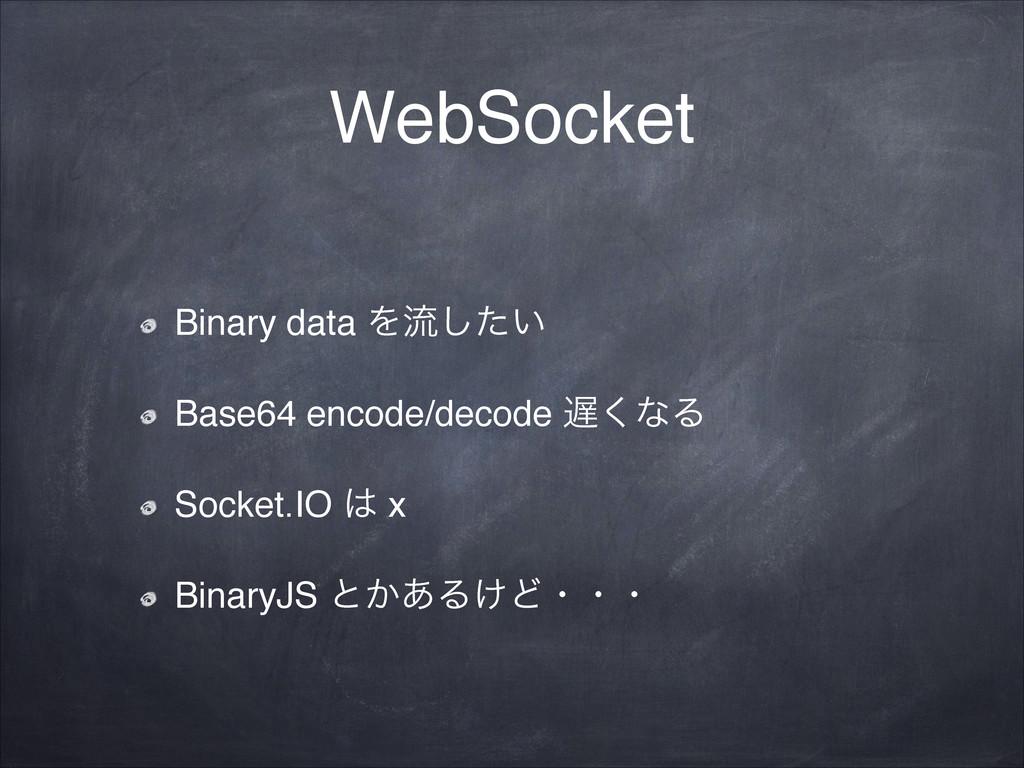 WebSocket Binary data Λྲྀ͍ͨ͠! Base64 encode/deco...