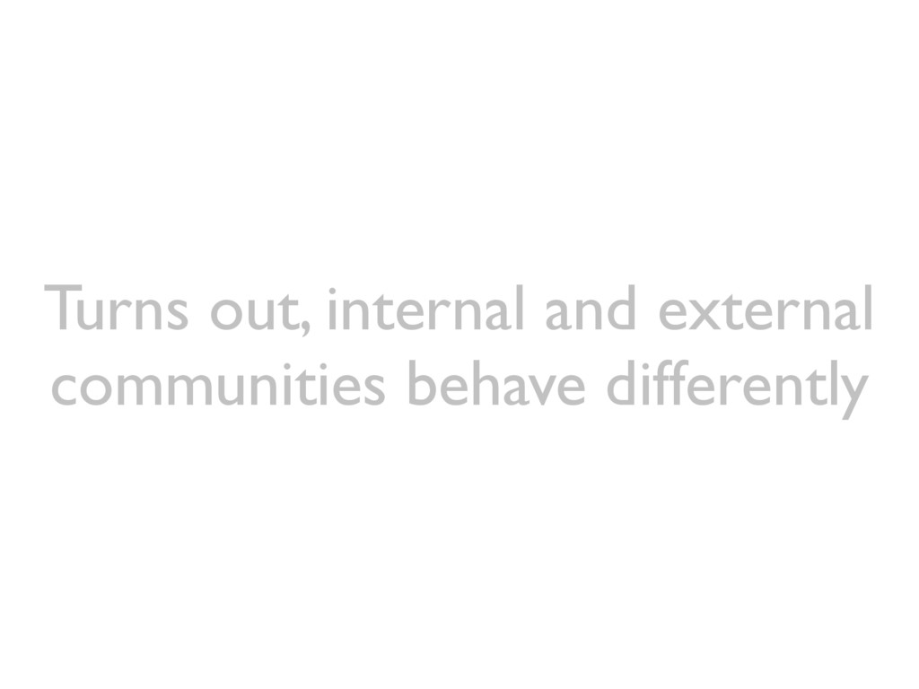 Turns out, internal and external communities be...