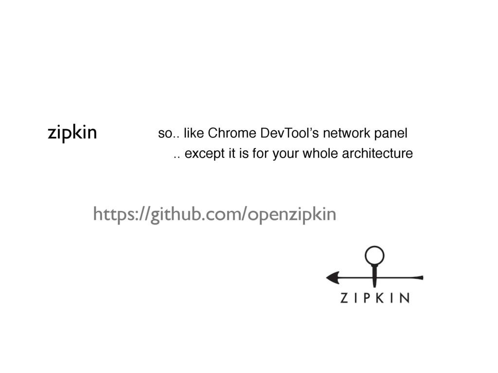 zipkin • so.. like Chrome DevTool's network pan...