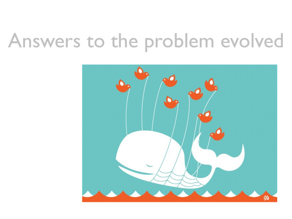Answers to the problem evolved