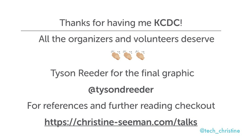 @tech_christine Thanks for having me KCDC! All ...
