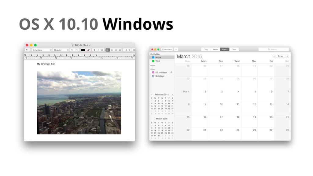 OS X 10.10 Windows