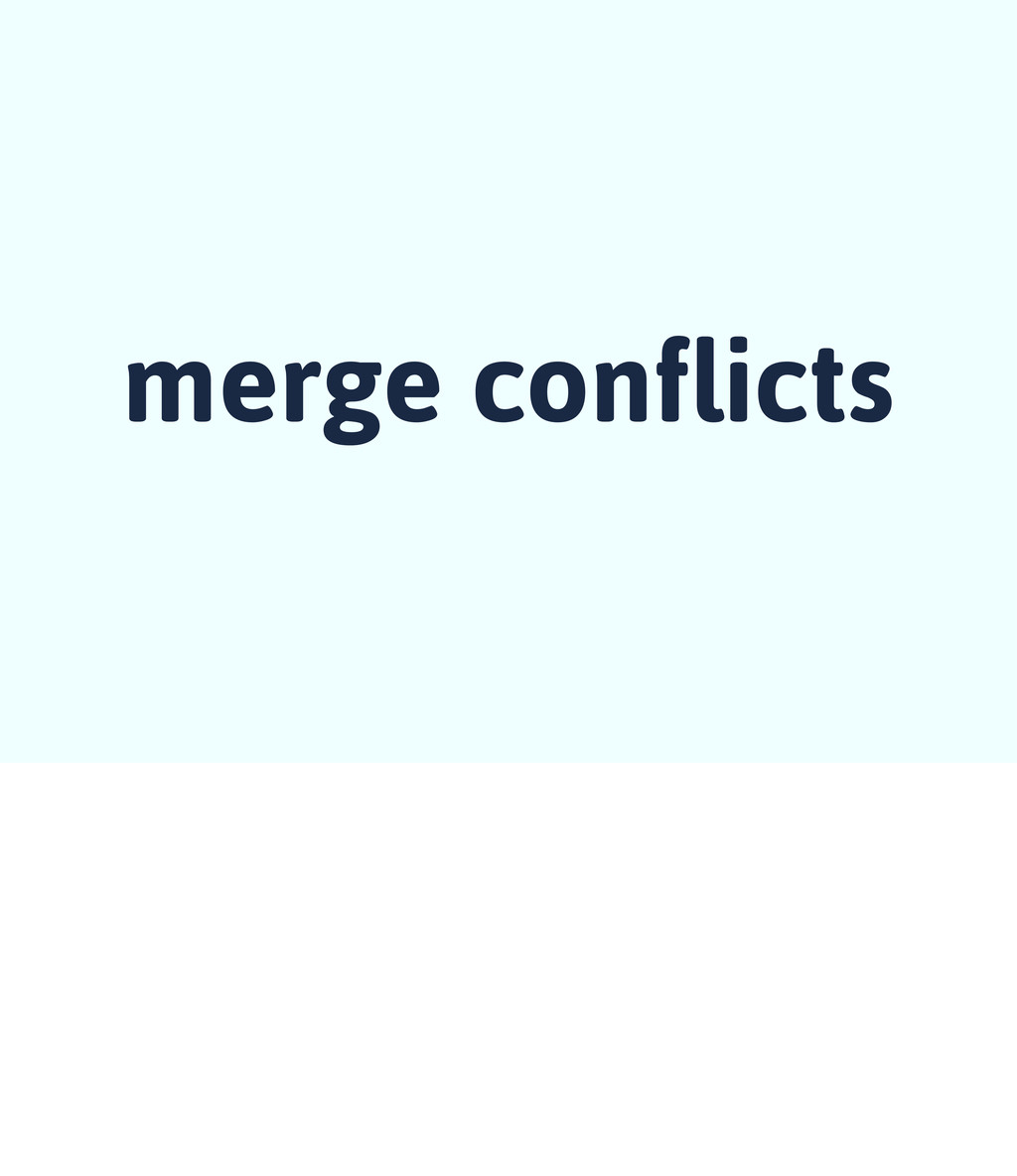 merge conflicts