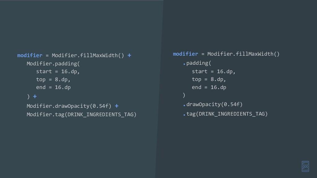modifier = Modifier.fillMaxWidth() + Modifier.p...