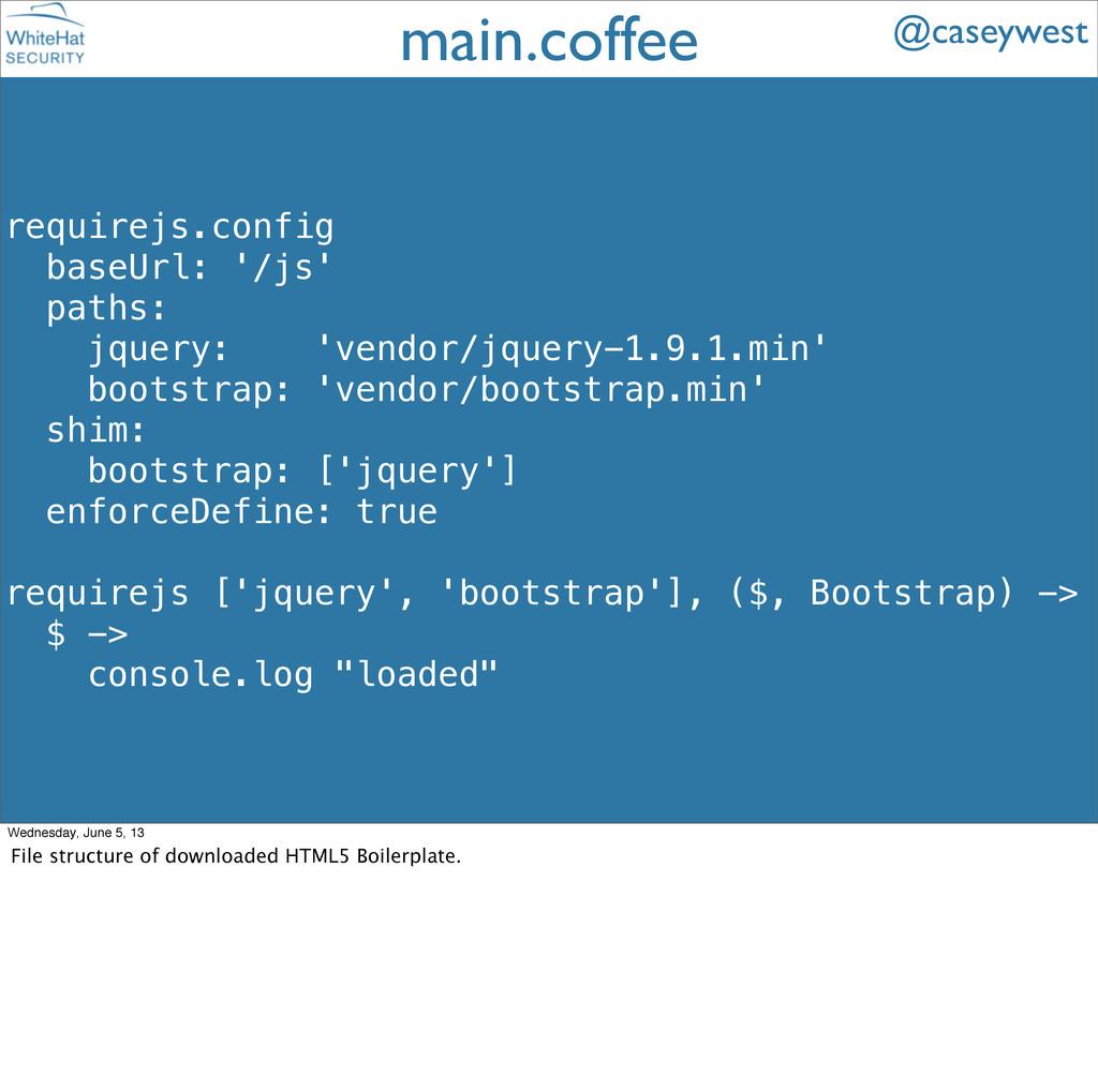 requirejs.config baseUrl: '/js' paths: jquery: ...