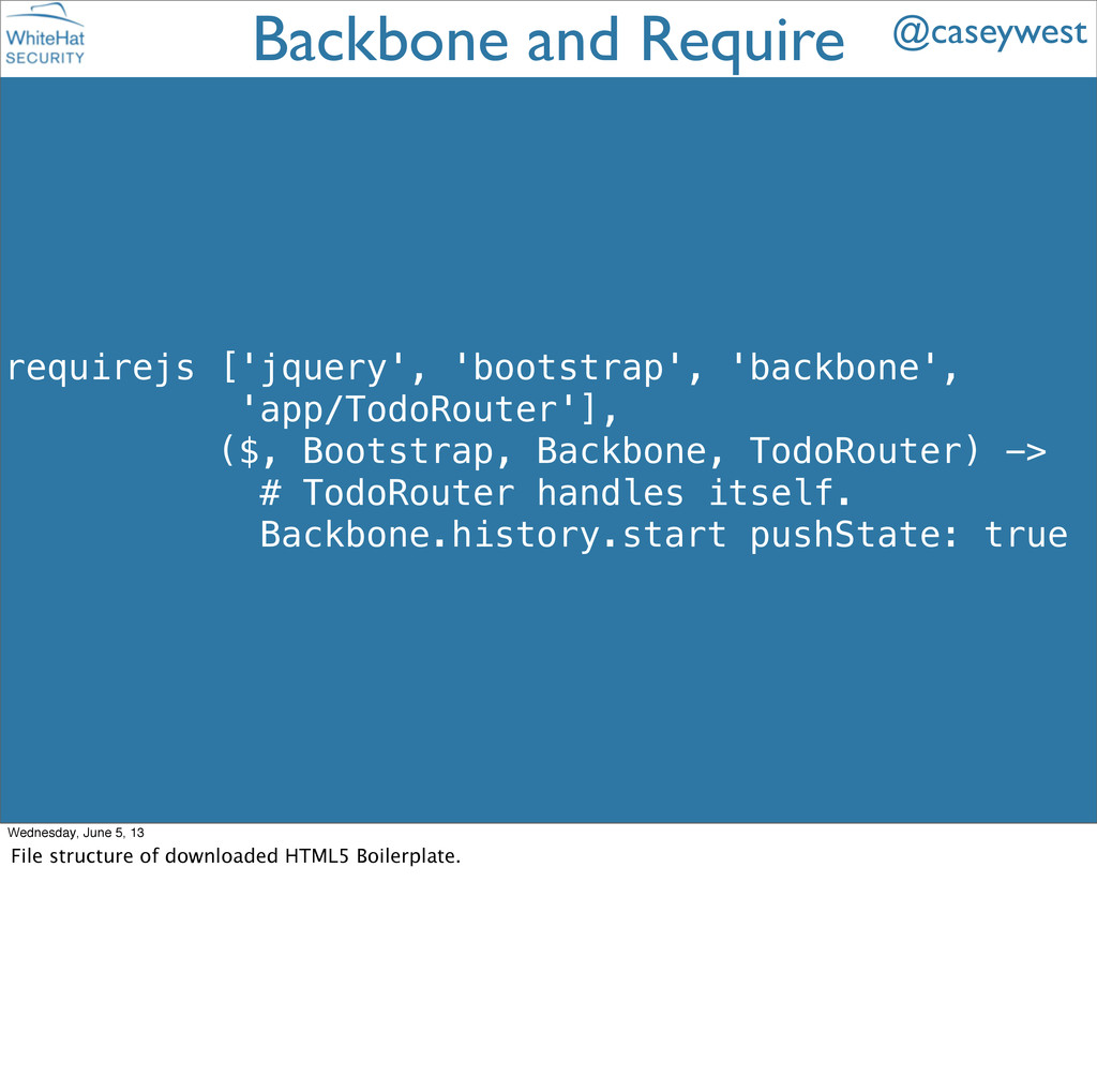 requirejs ['jquery', 'bootstrap', 'backbone', '...