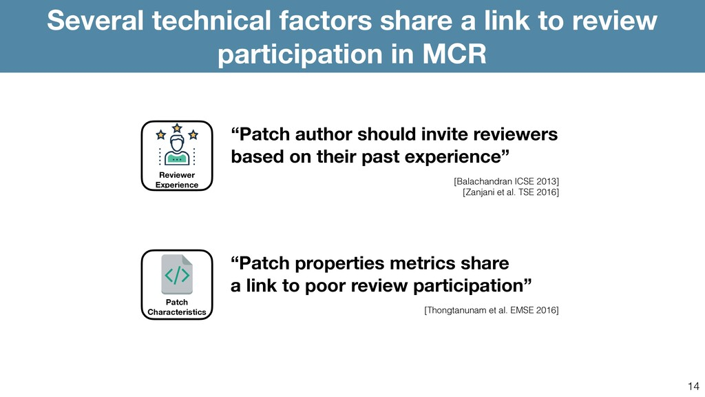 14 Several technical factors share a link to re...