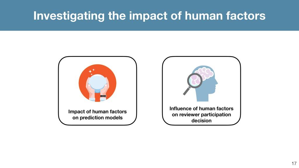 17 Investigating the impact of human factors Im...