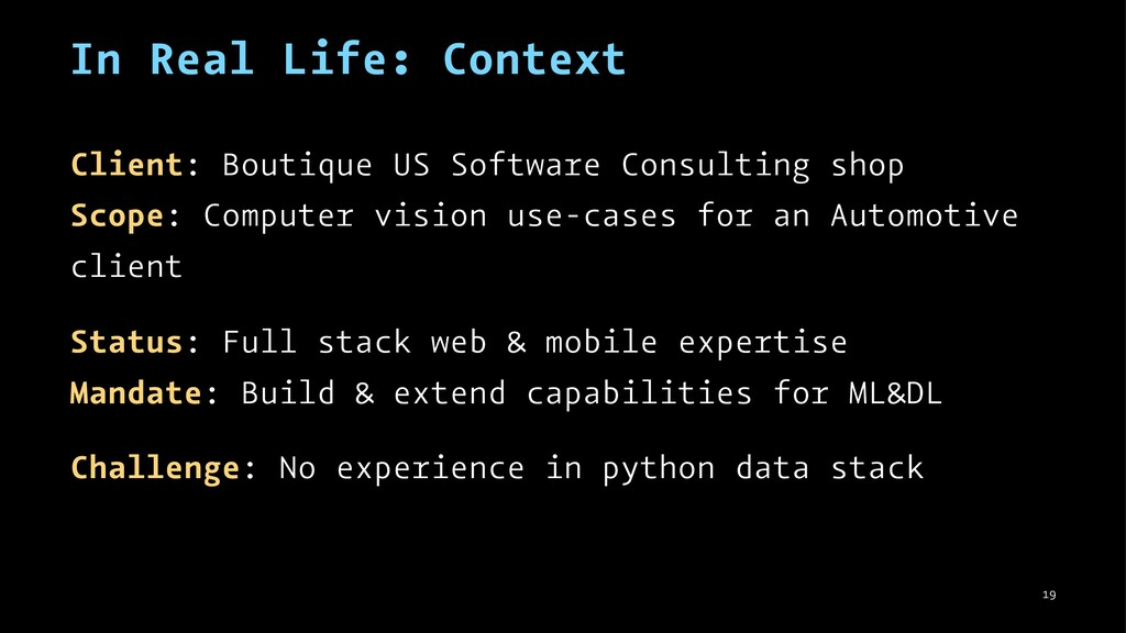 In Real Life: Context Client: Boutique US Softw...
