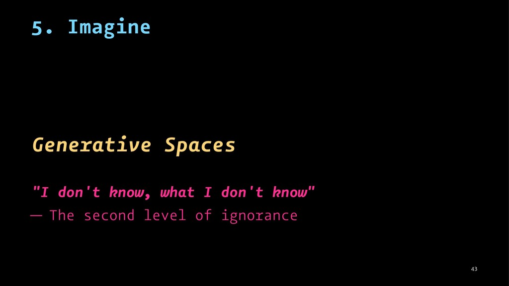 "5. Imagine Generative Spaces ""I don't know, wha..."