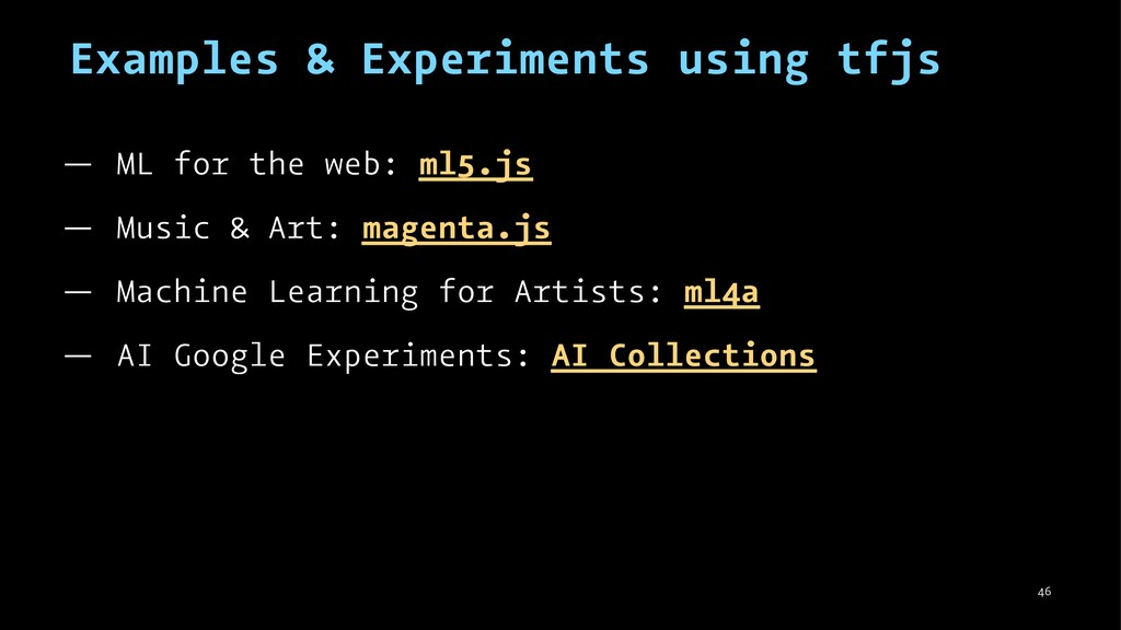 Examples & Experiments using tfjs — ML for the ...