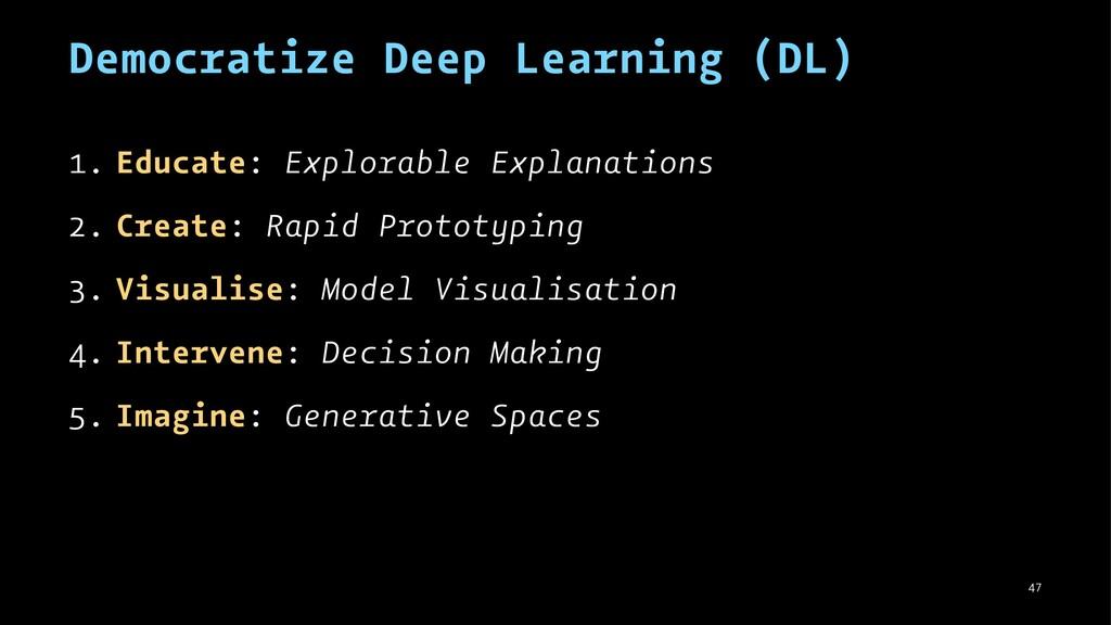 Democratize Deep Learning (DL) 1. Educate: Expl...