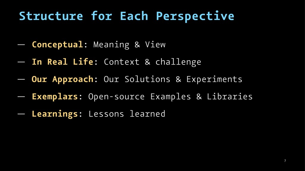 Structure for Each Perspective — Conceptual: Me...