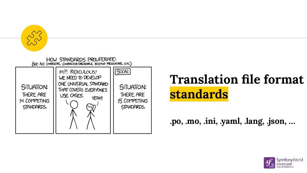 Translation file format standards .po, .mo, .ini...