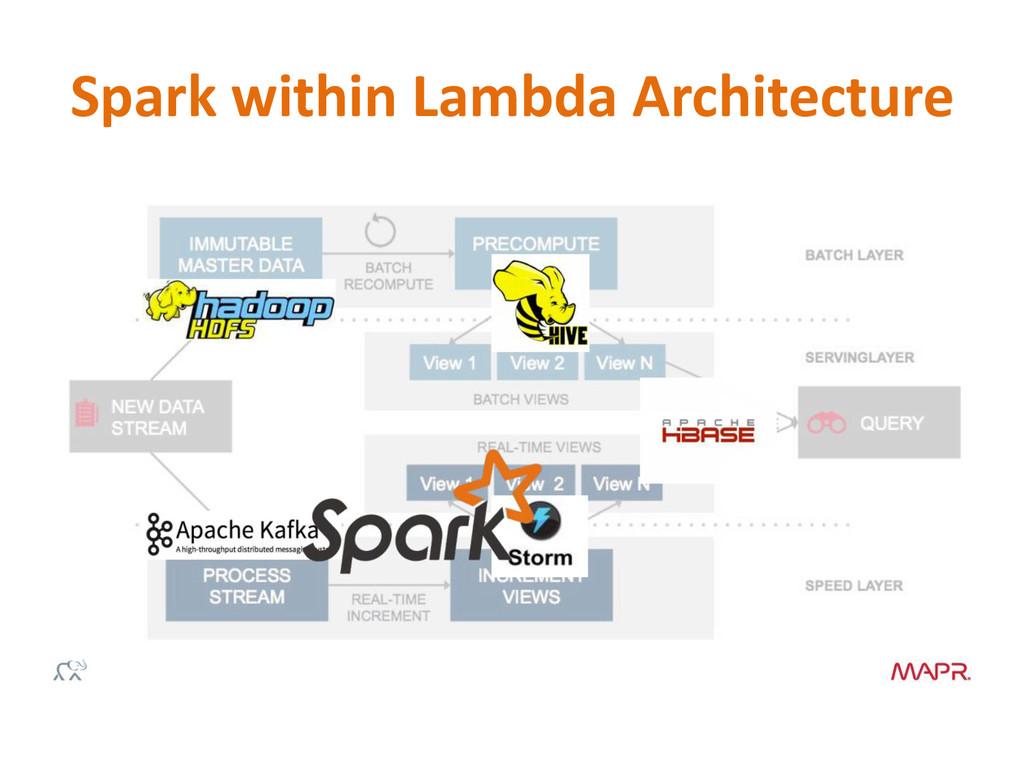 Spark within Lambda Architecture