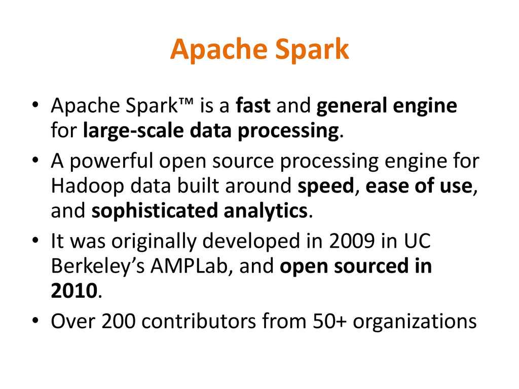 Apache Spark • Apache Spark™ is a fast and gene...