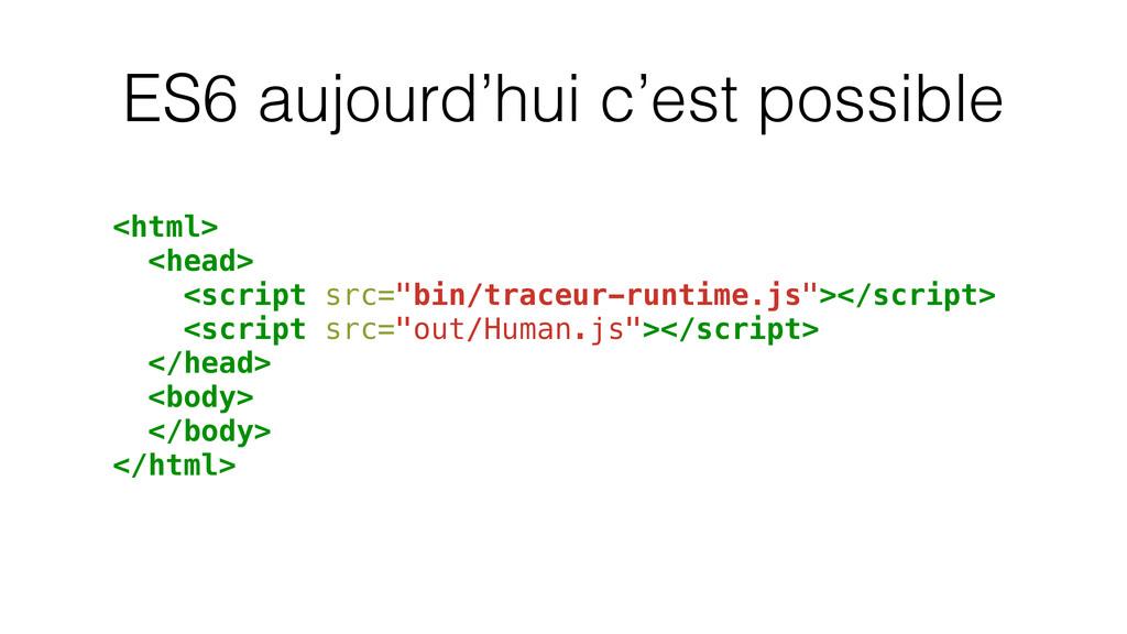 ES6 aujourd'hui c'est possible <html> <head> <s...