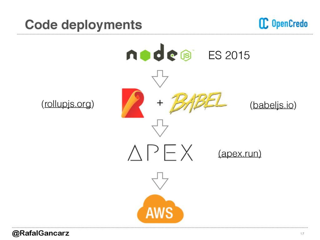 17 Code deployments ES 2015 + @RafalGancarz (ba...