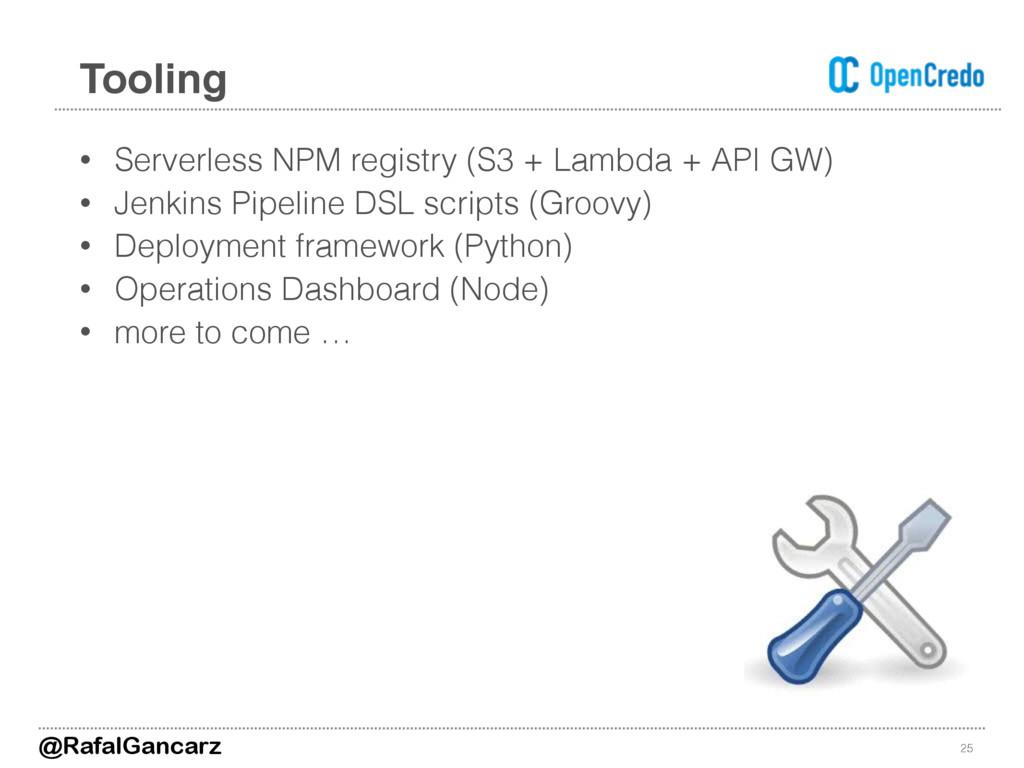 • Serverless NPM registry (S3 + Lambda + API GW...