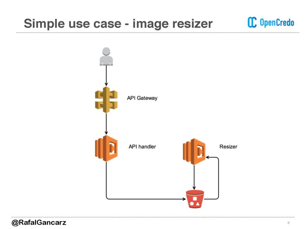 Simple use case - image resizer 6 @RafalGancarz