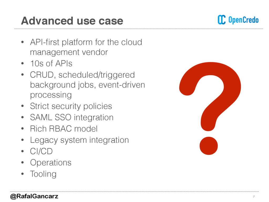 • API-first platform for the cloud management ve...