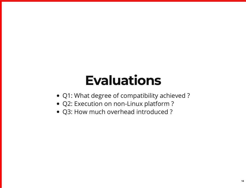 Evaluations Evaluations Q1: What degree of comp...